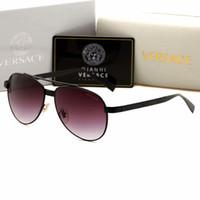 kahverengi kulüpler toptan satış-2019 marka tasarım sıcak satış yarım çerçeve güneş gözlüğü kulübü erkekler ve kadınlar için usta güneş gözlüğü açık sürüş gözlük uv400 beyaz-kahverengi cam