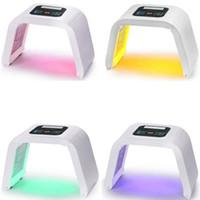 оборудование для светодиодной терапии оптовых-Машина красотки терапией кожи света 4 маски PDT Сид лицевая Светлая для оборудования Rra689 красотки салона Подмолаживания кожи стороны