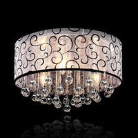 Wholesale hall ceiling light for sale - Modern Crystal Led Chandelier Luxury Decor Ceiling Living Room Bedroom Lighting Clear Glass Pattern Cloth Shape White Luster