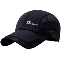 ingrosso cappelli di cotone in poliestere-Mesh Elegent Cap Uomini Donne Lettera Ricamo Cotone Poliestere Tenda da sole rapida asciugatura Anti-UV Cappelli regolabili Outdoor Running