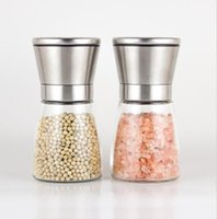 Stainless Steel Manual Salt Pepper Mill Grinder Seasoning Bottle Grinder Glass Kitchen Accessaries Tool Premium Salt Grinder