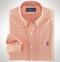 envío gratis ropa asiática al por mayor-2019 camisa de hombre de nuevo estilo ralph polo lauren camisas de marca ocio de alta calidad para hombre tops diseñador camisa de negocios logo bordado blusa salvaje