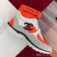 bottes de chaussures pour femmes achat en gros de-Mode designer de luxe chaussures femmes Casual Bottines Bottes à lacets baskets montantes femmes épissure sport chaussures classiques de haute qualité