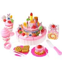 ingrosso miniatura alimentare-Gioco alimentare 13pcs plastica da cucina taglio frutta verdura bambini finta play giocattolo educativo sicurezza bambini in miniatura