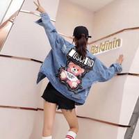 Wholesale vintage sequins resale online - Female Jacket Sequins Pearls Punk Batwing Sleeve Women s Denim Jacket Ladies Loose Vintage Streetwear Jeans Jackets Coat