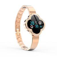 Wholesale watch monitor belt resale online - 2019 New Fashion Smart Fitness Bracelet Women Blood Pressure Heart Rate Monitoring Wristband Lady Watch Gift For Friend Y19062402