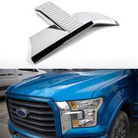 Wholesale front bumper trim for sale - Group buy Front Bumper Headlight and Grille Chrome Cover Trim for Fo rd F150 Accessories