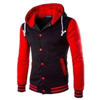с капюшоном оптовых-Zogaa 2018 Geek Korean Sstyle мужские толстовки Slim Fit с капюшоном повседневная мужская кофты контрастного цвета спортивная куртка и пиджаки J190523