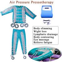máquina de drenaje linfático de presión de aire al por mayor-Máquina de drenaje linfático para presoterapia, presión de aire, masaje infrarrojo, drenaje linfático, presoterapia, 24 máquinas de masaje con cámara de aire.