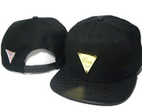 Wholesale hater leather for sale - Group buy Hot style Hater snapbacks caps hip pop street snap back hats leather brim sport caps metal logo snapback hats the best price DDMY