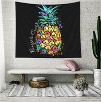 ev dekor ananas toptan satış-Gökkuşağı Ananas Dekoratif Halılar Banyo Açık Goblen Duvar Asma Sac Piknik Bezi Ev Dekorasyonu Masa Örtüsü Hediye