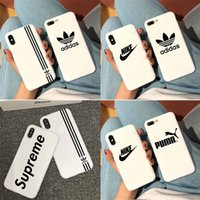 Wholesale new china iphone for sale - Group buy New Brand Designer Phone Cases For iPhone Xr Xs MAX Plus Case Silicone Soft Shockproof Case Cover