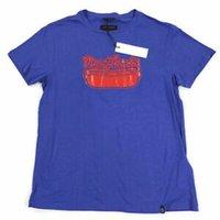 diseño gráfico de medios al por mayor-Camiseta de diseño para hombre Hot Dog Graphic Blue Sz Medium