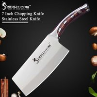 Wholesale chef cutter resale online - Sowoll Kitchen Knife inch Japanese Chef Knife Non Slip Resin Fibre Handle Quality Stainless Steel Clever Cutter Chopping Knife