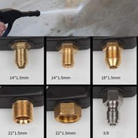 Wholesale metal water nozzle resale online - Portable High Pressure Copper Household Washing Machine Washing Machine Nozzle Grab Metal Watering Gun