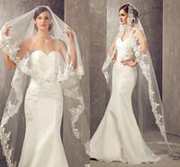 marfim capela comprimento casamento véu venda por atacado-2019 Best Selling Bridal Veils 3 Metros Comprimento Mais Longa Capela Marfim Branco com Pente De Noiva Véu De Noiva Véu Da Princesa Véus De Noiva
