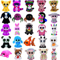 Wholesale stuffed plush fish resale online - Pyoopeo Ty Beanie Boos quot cm Dog Bird Fish Bunny Penguin Raccoon Lamb Plush Big eyed Stuffed Animal Doll Toy with Heart Tag