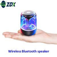 altavoz bluetooth transparente al por mayor-3W / 5W portátil Bluetooth 5.0 Altavoz transparente LED luminoso subwoofer TWS 6D envolvente estéreo HIFI Enfriar teléfono de audio para teléfonos