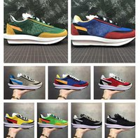 kadınlar için yüksek fiyatlı ayakkabılar toptan satış-2019 new Sacai x Nike LDV Waffle reserve price designer shoes for men and women high quality sneakers with logo running shoes sports casual shoes