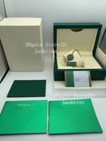 ingrosso scatola da orologi svizzeri-Cassa del regalo della scatola di vigilanza di verde di qualità migliore per 116610 orologi Etichette e carte della carta del libretto in inglese
