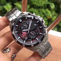 многофункциональный наручные часы оптовых-EFR556 series six-pin multi-function men's wristwatch quartz movement chronograph 316L precision steel case watchband hd mineral glass mirro