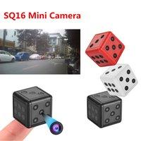 dvr spor kameraları toptan satış-SQ16 Mini Zar Kamera Eylem Mini Kamera Hareket DVR Spor DV Için Motosiklet Mini HD Anahtarlık Kamera 1080 P Mikro Kamera VS SQ8 SQ11 SQ12