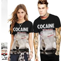 ingrosso borse bianche per l'estate-5 Styles Funny Print 3D T Shirt Uomo Donna Unisex White Bag Stampato Summer Cool Tee Top manica corta O-Collo T-shirt