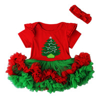 Wholesale baby first birthday clothing for sale - Christmas Baby Costumes Cloth Infant Toddler Girls First Christmas Outfits Newborn Christmas Romper clothing Set birthday gift