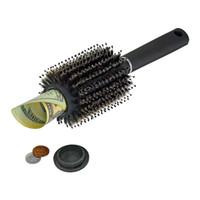 versteckte sichere boxen großhandel-Haarbürste Kamm Hohlbehälter Schwarz Stash Safe Diversion Geheime Sicherheit Haarbürste Versteckte Wertsachen für Home Security Aufbewahrungsbox FFA2468