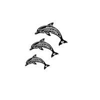 наклейки для автомобилей с наклейками оптовых-Племенной Дельфин Семейный Автомобиль Окно Виниловая Наклейка Наклейка Симпатичные И Интересные Стикеры Моды