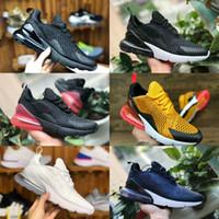 zapatos negros de marca para hombres al por mayor-2019 Nike Air Max 270 shoes New airmax Vapormax 270 Blanco Voltio Triple Blanco Negro Marca Teal Mujer Moda Zapatillas de deporte Hombres Entrenadores Calzado deportivo