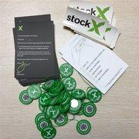 ingrosso adesivi circolari-2019 StockX OG Codice QR Sticker Verde circolare Tag Fibbia scarpa in plastica StockX Verified X Tag verde autentico Vendita calda