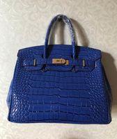 ef8275910158b Krokodil-Handtasche nagelneue Taschen Schulter Tote prägen Strauß  Großhandel Frauen Tote Geldbeutel Italien Großbritannien Frankreich echtes Leder  Tasche ...