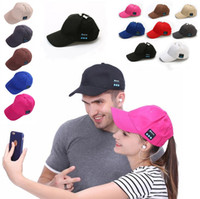 Wholesale decoration baseball cap for sale - Group buy Bluetooth Music Baseball Cap Creative Canvas Sun Hat Music Handsfree Headset with Mic Speaker Cap Sport Ball Hat Party Hats