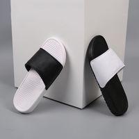 Wholesale booties women buckle online - High Quality Benassi Designer Slipper Gear Bottoms Women Mens Women Sandals Causal Summer Flip Flops Black White with letter and check