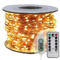 luces de cadena de hadas de led blanco al por mayor-Luces de cadena LED más largas 30m 50 m 100 m calle guirnalda Luz de Navidad Luces de hadas de Navidad al aire libre Luz blanca estrellada + Adaptador de EU / EE.
