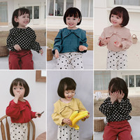 Wholesale blouses for kids resale online - Children All Match Blouses New Big Butterfly tie Shirt for Babies Kids Multicolored Toddler Infant Girl s Long sleeved Shirts