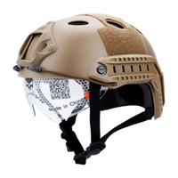 accesorios de casco rapido al por mayor-Nuevos Gafas protectoras Casco rápido Tapa táctica del casco Accesorios del casco Salto rápido Protector Marrón Negro
