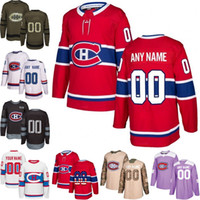 ingrosso montreal canadiens giovani-Personalizzato Mens Donna Youth Montreal Canadiens Jesperi Kotkaniemi Brendan Gallagher Price Weber Jesperi Kotkaniemi Hockey Maglie cucite S-3XL