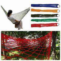 Wholesale camp hammock resale online - 5 Colors Outdoor Portable Camping Hammock Garden Hanging Mesh Hammock Nylon Mesh Sleeping Bed Hammock Gadgets ZZA2374