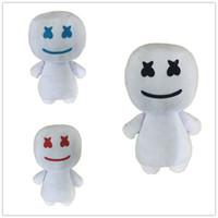 улыбающиеся куклы оптовых-Хлопок Конфеты Кукла Маска DJ Marshmello 25 СМ Улыбающееся Лицо Плюшевые Игрушки Хэллоуин Подарок Белый Мягкий Прекрасный Сопротивление Падению 15dm C1