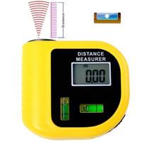 nível digital venda por atacado-Instrumento de Medição portátil de Nível Digital Laser Designador Lcd Ultrasonic Rangefinder Eletrônico Fita Métrica T8190619