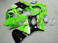 carenado encaja kawasaki al por mayor-Nuevo carenado de motocicleta ABS de moldeo por inyección apto para kawasaki Ninja ZX6R 636 ZX6R 2000 2001 2002 00 01 02 juego de carrocería de carenado verde negro