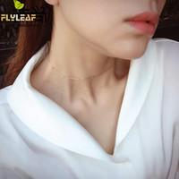 küçük bilyalı kolye toptan satış-100% 925 Ayar Gümüş Küçük Top Gerdanlık Kolye Flyleaf Basit Kişilik Moda Takı Kısa Kolye Kadın