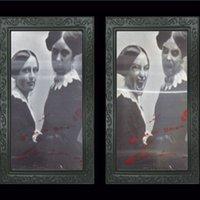 обрамление 3d картины оптовых-Halloween Horror 3D Изменение Face Photo Frame Bar Haunted House декоративной живописи рамка Реквизит Hallowmas для вечеринок