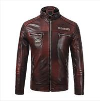 deri ceket yeni mens tarzı toptan satış-Erkekler Yeni Marka PU Deri Erkekler Coat Moda Stil Kalın Ceket WINDBREAKER Su geçirmez Ceket Giyim Kış Erkek Tasarımcı Ceket
