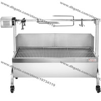 Wholesale chicken roast for sale - Group buy cm kg Stainless Steel Heavy Duty Charcoal Barbeque BBQ Pig Lamp Chicken Hog Roasting Machine