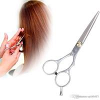 ciseaux à cheveux gratuit achat en gros de-Acier inoxydable Coiffure Régulière Coupe de cheveux Ciseaux à effiler Ciseaux Set Livraison gratuite