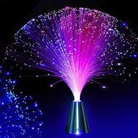Wholesale color changing fiber optic lamp resale online - YWXLight Beautiful Romantic Color Changing LED Fiber Optic Night Light Lamp