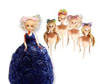 ingrosso bambole abiti da sposa-Stampo per torte per bambole in plastica Bobbi Toppers per bambole Abito per torte di compleanno Strumenti per decorare torte di compleanno Decorazione per matrimoni